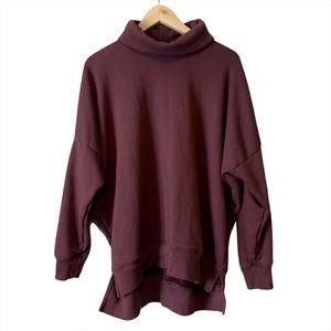 Aerie oversized cowl neck sweatshirt